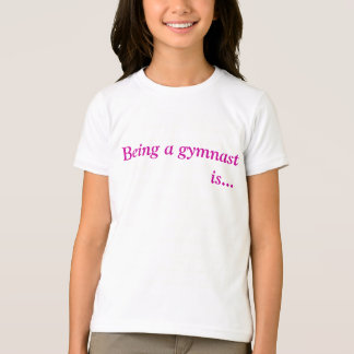 Pièce en t gymnastique inspirée de filles t-shirt