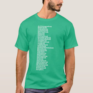 Pièce en t helvetica de liste d'ordre d'insecte t-shirt