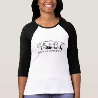 Pièce en t hybride de campeur - c'est mon endroit t-shirt