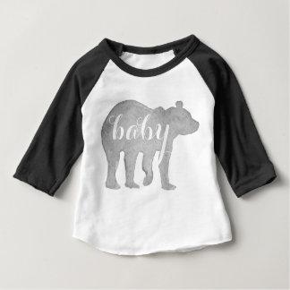 Pièce en t infantile de base-ball d'aquarelle t-shirt pour bébé