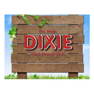 PIÈCE EN T je suis de Dixie Carte Postale