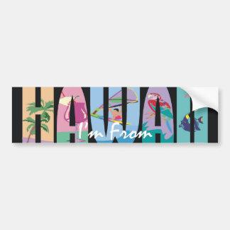 PIÈCE EN T je suis Hawaï Autocollant Pour Voiture