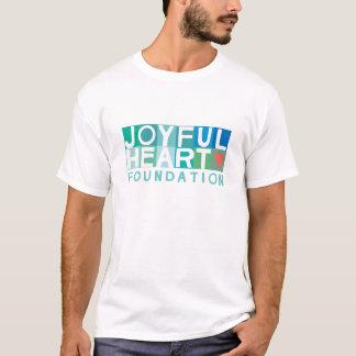 Pièce en t joyeuse du coeur des hommes t-shirt