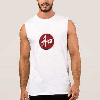 """Pièce en t légère japonaise de muscle de """"paix"""" t-shirt sans manches"""