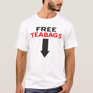 Pièce en t libre de sacs à thé t-shirt
