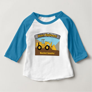 Pièce en t lourde de bébé de chargeur de seau t-shirt pour bébé
