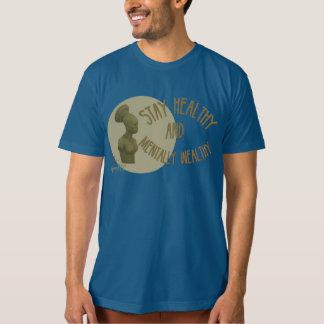 Pièce en t masculine saine de séjour bleu de t-shirts