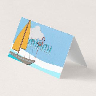 PIÈCE EN T Miami Carte De Visite