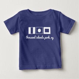 Pièce en t nautique de drapeau - les îles de TIP T-shirt Pour Bébé