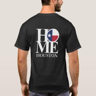 Pièce en t noire À LA MAISON de Houston le Texas T-shirt