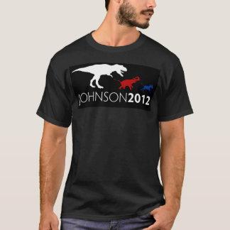 Pièce en t noire de Gary Johnson 2012 T-shirt