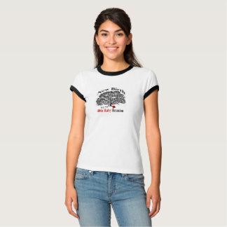 Pièce en t noire //de lisse de dames t-shirt