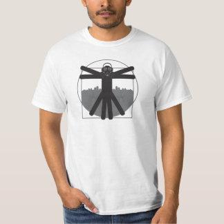 Pièce en t noire de logo de physique t-shirt