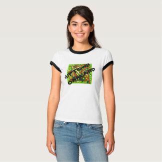 pièce en t noire d'équilibre de dames d'Oakland T-shirt