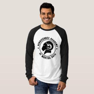 Pièce en t noire et blanche de RAM de douille T-shirt