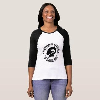 Pièce en t noire et blanche de RAM de la douille T-shirt