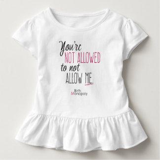 Pièce en t non permise de ruche d'enfant en bas t-shirt pour les tous petits