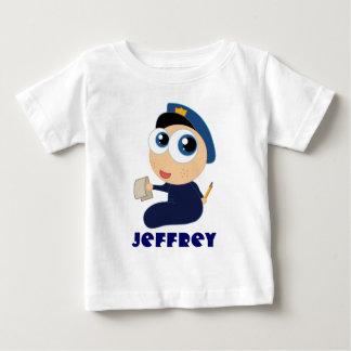 Pièce en t personnalisée de nourrisson de policier t-shirt pour bébé