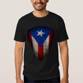 Pièce en t portoricaine de grunge de drapeau t-shirt
