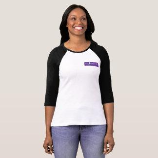 Pièce en t pourpre de raglan du logo des femmes t-shirt