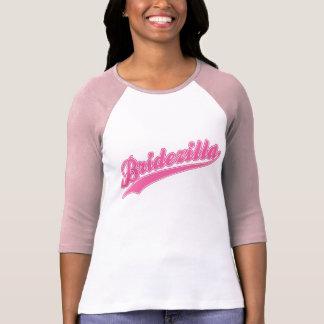 Pièce en t rose de base-ball de Bridezilla T-shirt