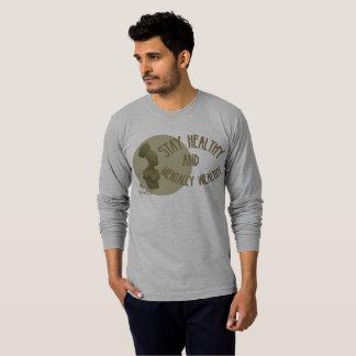 Pièce en t saine de douille de séjour gris de t-shirts