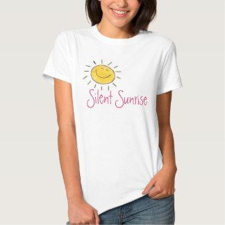 Pièce en t silencieuse de dames Sun de lever de T-shirts