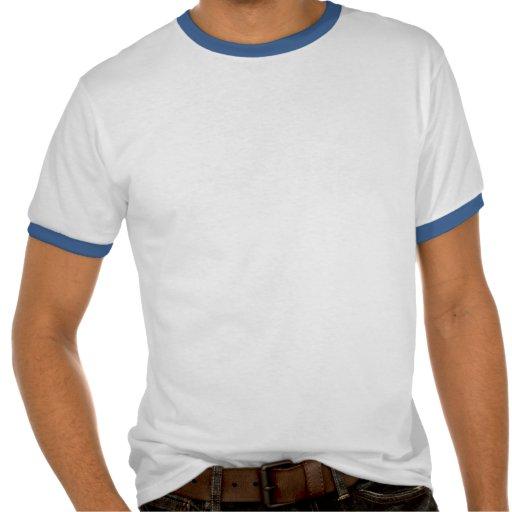 Pièce en t simple de sonnerie de types bleus de jo t-shirts