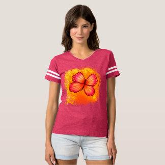 Pièce en t sportive de papillon féminin t-shirt