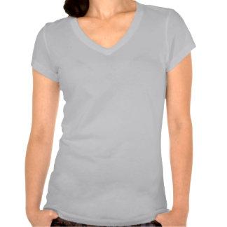 pièce en t suprême de V-cou de l'amour-propre des T-shirts