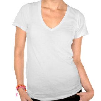 pièce en t suprême de V-cou de l'amour-propre des T-shirt
