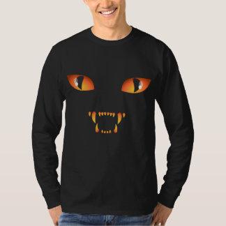 Pièce en t unisexe éffrayante de chemise de chat t-shirt
