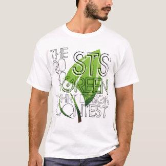 Pièce en t verte de concours de Desgin de T-shirt