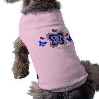 Pièce en t vibrante de chien de papillons t-shirt pour chien
