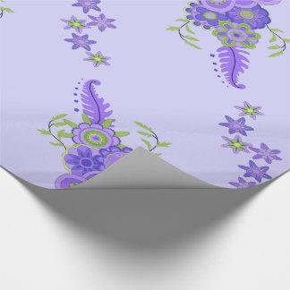 Pièce maîtresse assez pourpre de fleurs papier cadeau