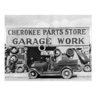 Pièces d'auto cherokee : 1936 carte postale
