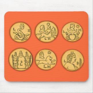 Pièces de monnaie antiques tapis de souris