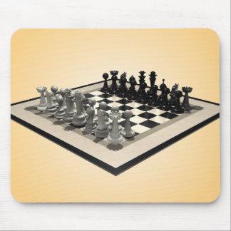 Pièces d'échecs d'échiquier et : Mousepad Tapis De Souris