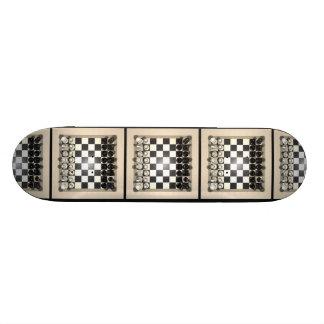 Pièces d'échecs d'échiquier et : Planche à roulett Plateau De Planche À Roulettes