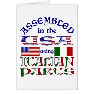 Pièces italiennes carte de vœux