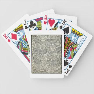 Pied-d'alouette, conception de papier peint, 1872 jeu de poker