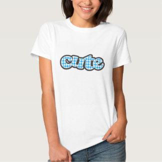 Pied-de-poule profond de bleu de ciel t-shirt