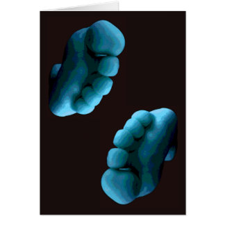 Pieds bleus de Photoshop d'art… de carte de voeux