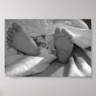Pieds de bébé affiches