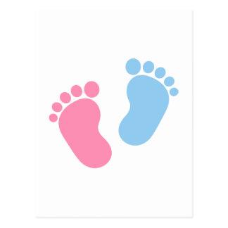 Pieds de bébé carte postale