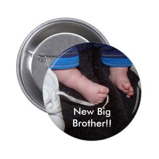Pieds de bébé, nouveau frère ! ! badge rond 5 cm