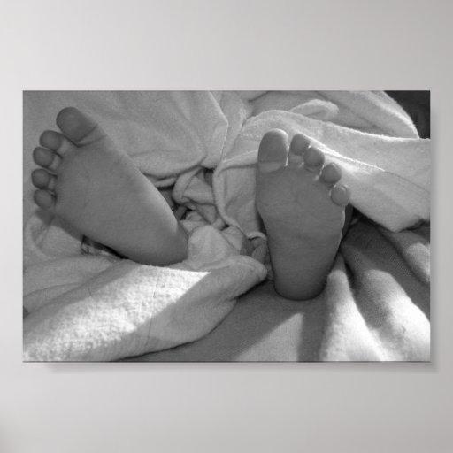 Pieds de bébé poster
