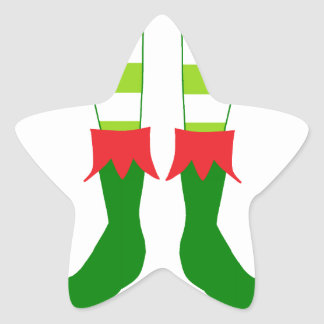 Pieds mignons d'Elf de Noël Autocollant En Étoile