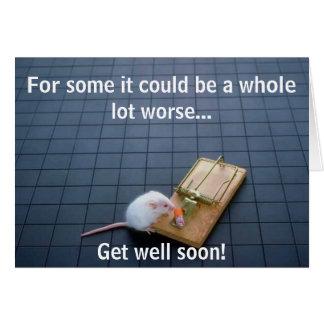 Piège drôle de souris carte de vœux