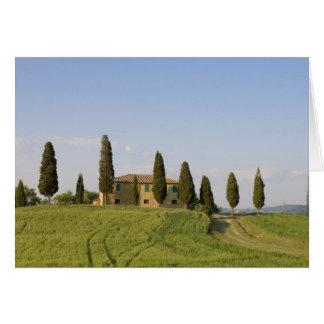 Pienza, d'Orcia de Val, province de Sienne, Carte De Vœux